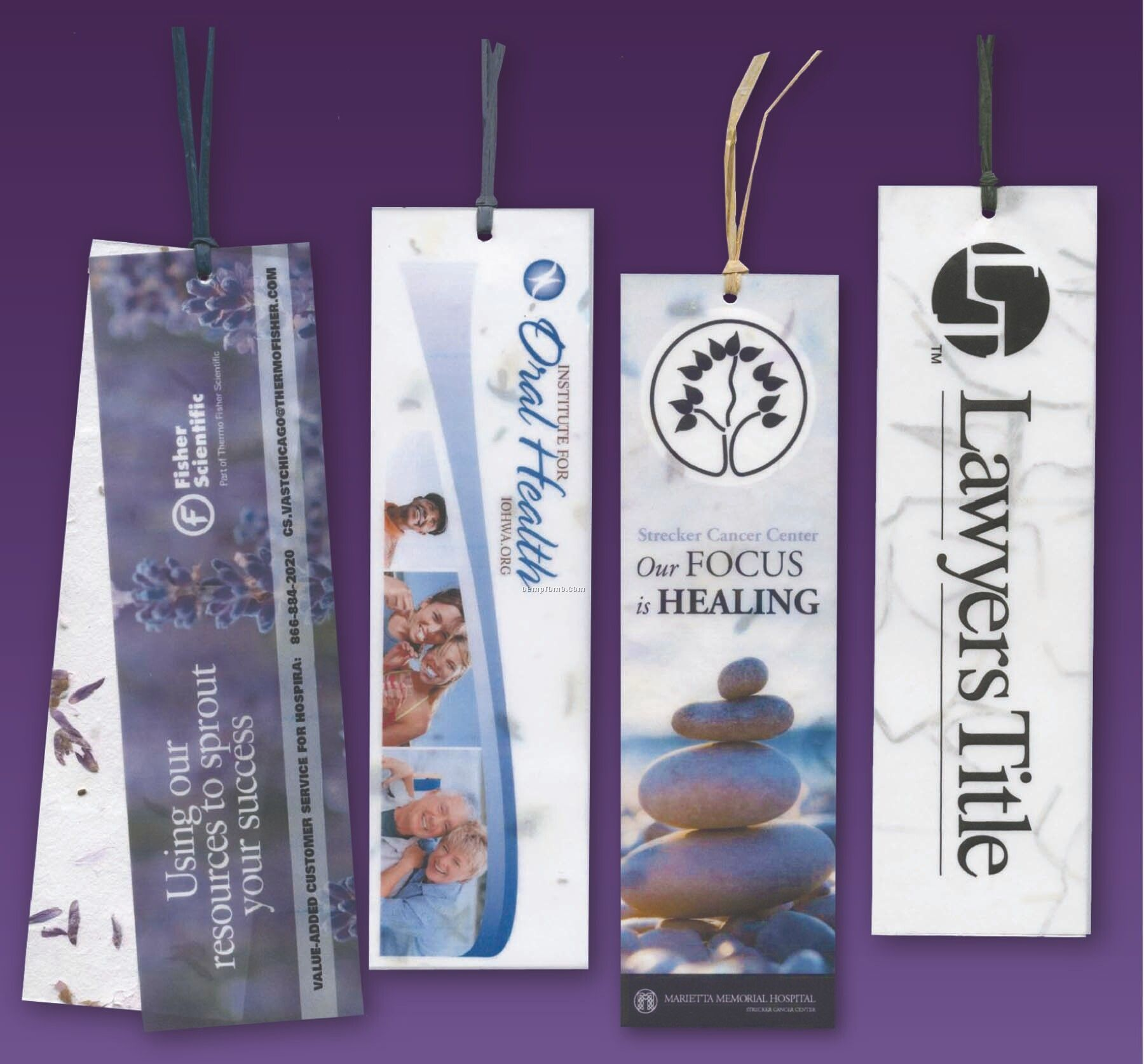 Custom Message Bookmark Embedded With Wildflower Money Seed