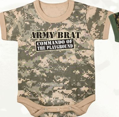 Army Digital Camouflage Commando Of The Playground Infant Romper