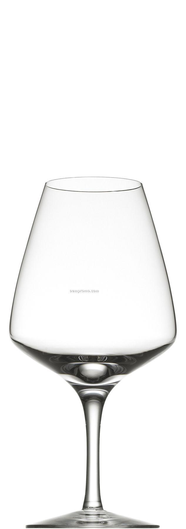 Jazz Me Crystal Goblet Glass W/ Symmetrical Bowl & Stem