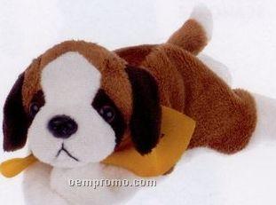 Laying St. Bernard Beanie Stuffed Animal