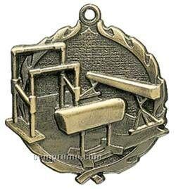 "Medal, ""Gymnastics -female"" Wreath - 2-1/2"" Dia."