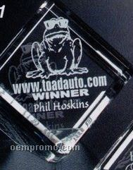"""Pristine Gallery Crystal Clipped Cube Award (2"""")"""