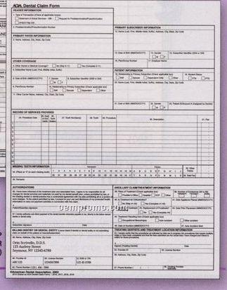 2002 Ada Claim Form - Laser Sheet (1 Part)