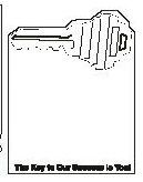Acrylic Stock Shaped Mirror W/ Magnet (Key)