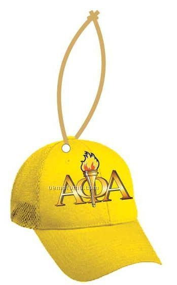 Alpha Phi Alpha Fraternity Hat Ornament W/ Mirror Back (4 Square Inch)