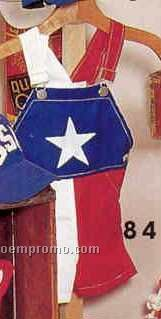 Baby Texas Flag Bunting Shortall W/ Applique Star (S-l)