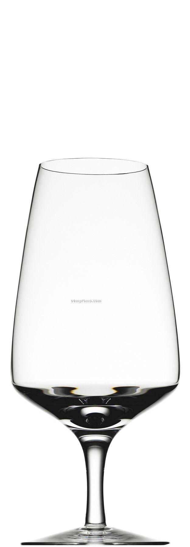 Jazz Me Crystal Iced Beverage Glass W/ Symmetrical Bowl & Stem
