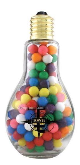 Jumbo Light Bulb Candy Container W/ Gumballs (2 Day Service)