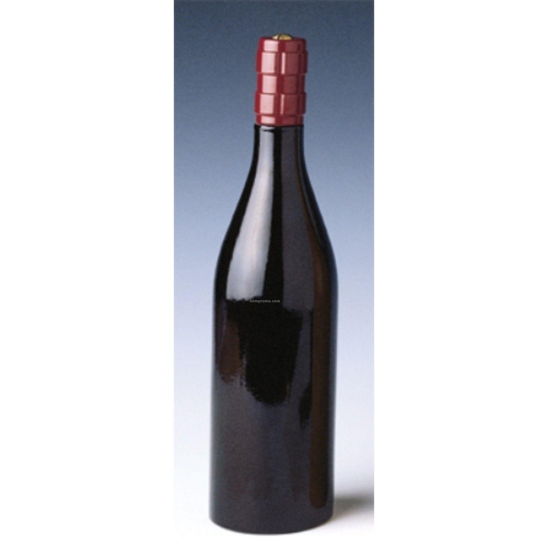Cellarmaster's Burgundy Bottle Shaped Peppermill- Laser Engraved