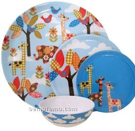 "Jungle Jumble Bamboolamine Round Platter (14"")"