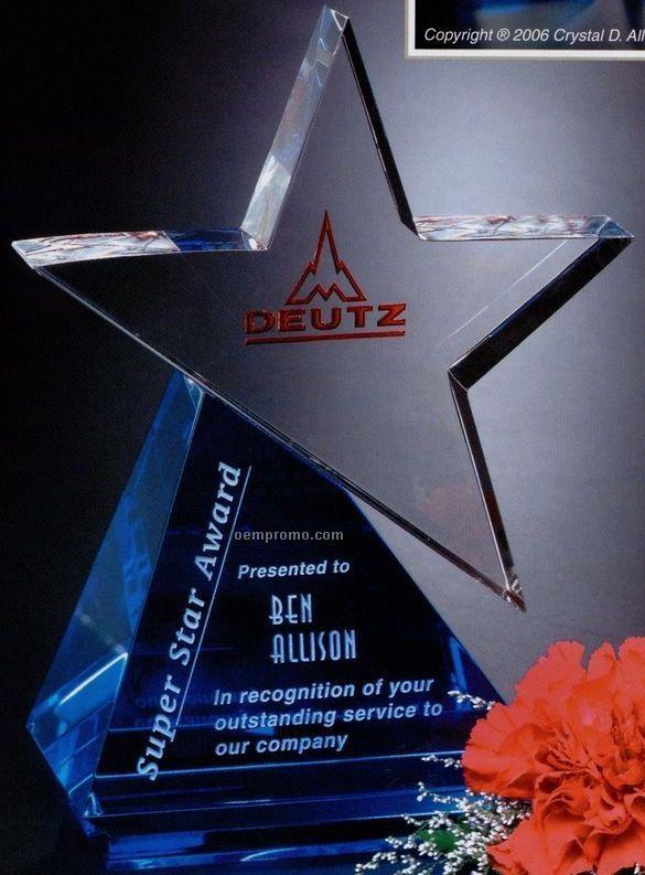 "Star Gallery Crystal Azure Star Award (6 1/2"")"