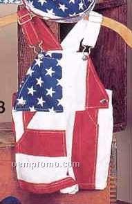 Stars & Stripes Flag Baby Shortall (Small-large)