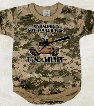 Army Digital Camouflage Got Your Back Infant Romper