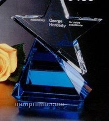 "Star Gallery Crystal Azure Star Award (8"")"
