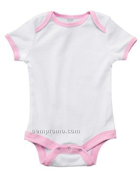 Bella Baby Infant 5.8 Oz. Baby Rib Contrast Two Tone One Piece