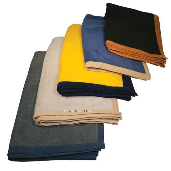 Port authority fleece and nylon travel blanket china for Porte 60 x 50