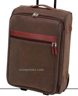 "Gigi Chantal 20"" Brown Faux Leather Trolley Case"