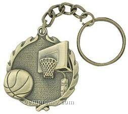 "Medal, ""Basketball"" - 1-1/4"" Key Chain"
