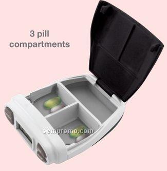 Pill Box W/ Alarm And Lanyard