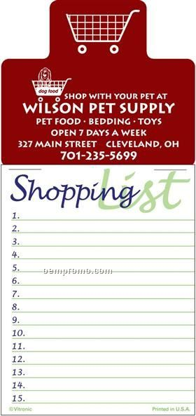 Shopping List Magna Stick Calendar Pads (After 08/1/2011)