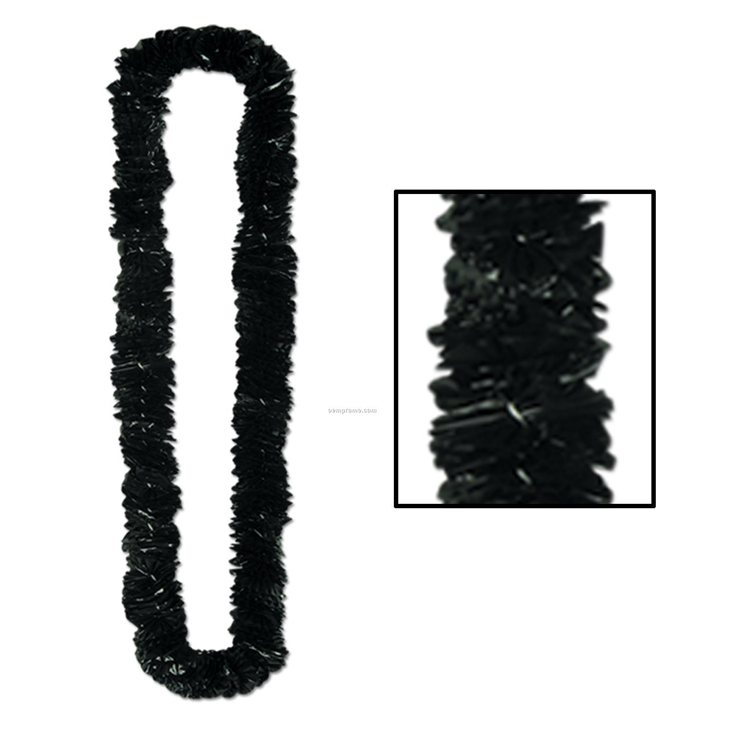 Soft Twist Solid Black Poly Leis