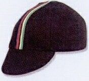 Traditional Black Cycling Cap With Ribbon - Blank