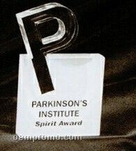 Acrylic Paperweight Up To 20 Square Inches / Letter P In Square