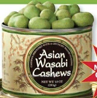 Asian Wasabi Cashews Tin W/ Custom Label 16 Oz.