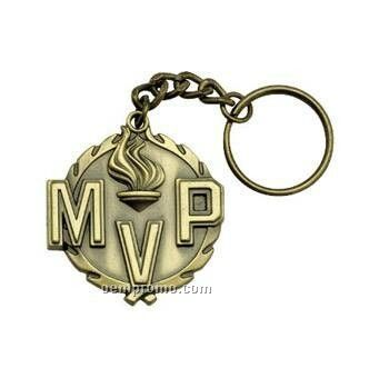 """Medal, """"Mvp"""" """"Most Valuable Player"""" - 1-1/4"""" Key Chain"""