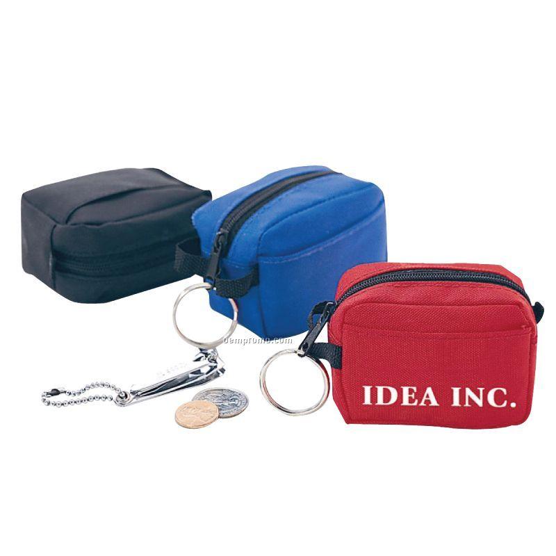 Mini Duffel Bag Shaped Coin Pouch