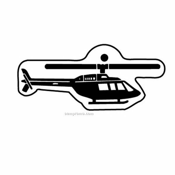 Stock Shape Collection Helicopter 1 Key Tag