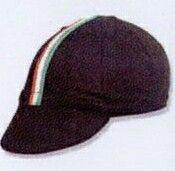 Euro Black Cycling Cap With Ribbon - Blank