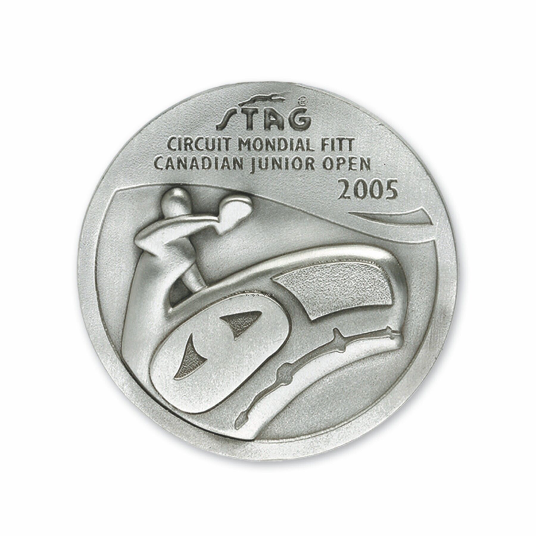 """Solid Pewter Custom Coin (1 1/2"""")"""