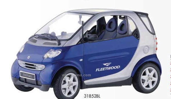"9"" Metallic Blue Smart For Two Coupe Die Cast Replica Vehicle"