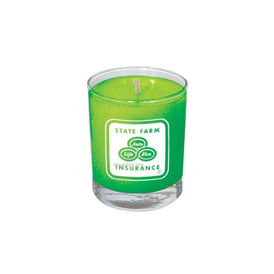 Baked Apple Votive Glass Soy Candle