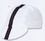 Classic White Cycling Cap With Black Ribbon - Blank
