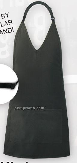 "Economy V-neck Tuxedo Apron - Black (32""X28"")"