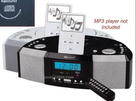Iq Sound Ipod Docking Station With Radio & Alarm Clock - Decal