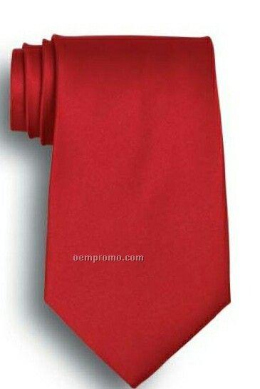 Wolfmark Solid Series Red Silk Tie