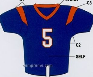 Youth Custom Football Jersey W/ Contrast Shoulder Stripe & Neck