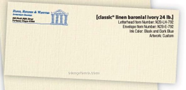 #10 Classic Linen Baronial Ivory Stationery Envelopes