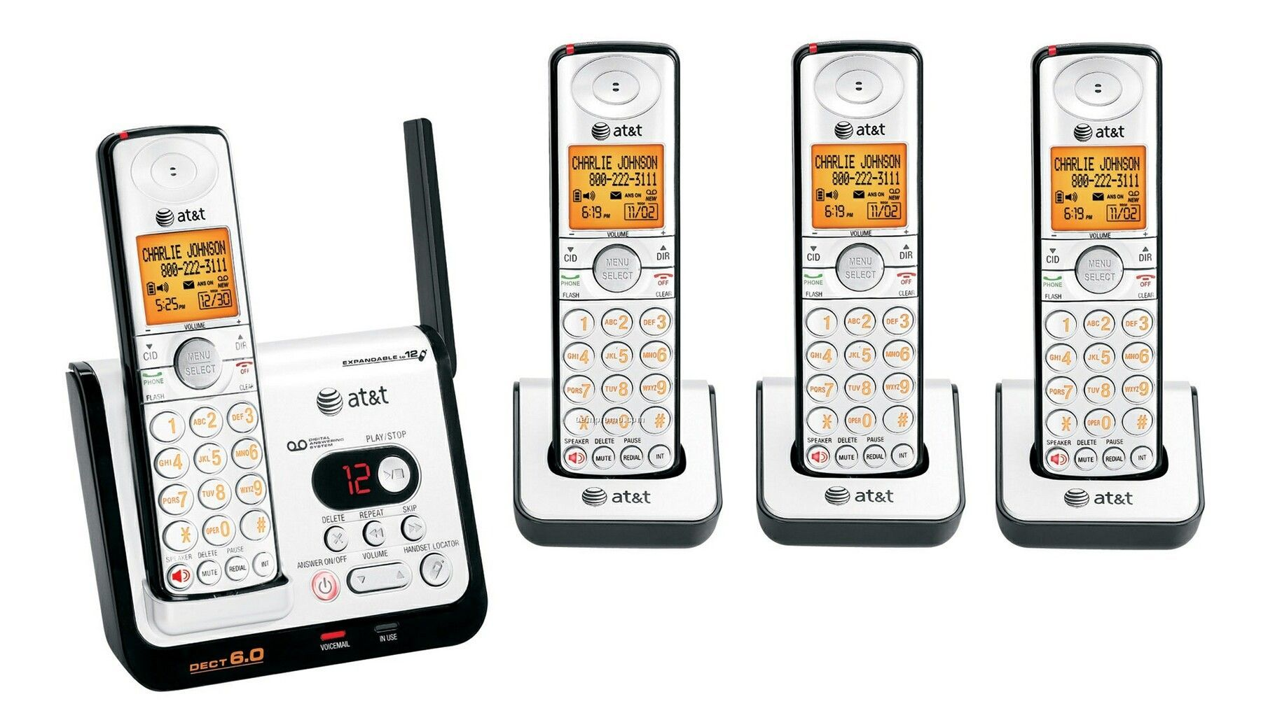 At&T Expandable Dect 6.0 Digital Four Handset Answering System
