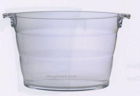 Large Napa Acrylic Ice Bucket W Handles Amp Ringed Body