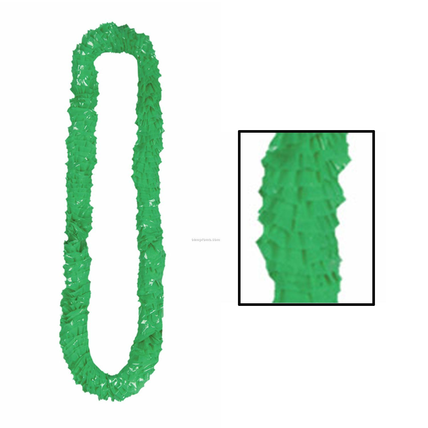 Soft Twist Green Poly Leis