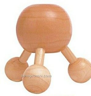 Three Legged Wooden Ball Massager