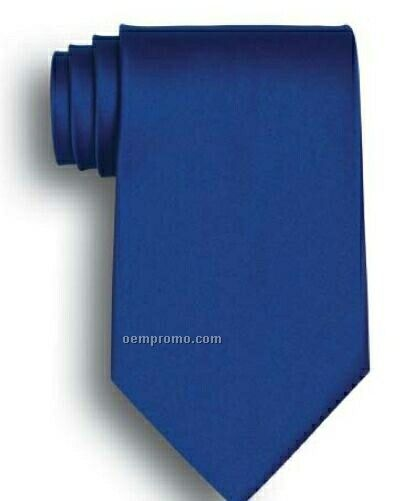 Wolfmark Solid Series Royal Blue Silk Tie
