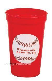 12 Oz. Plastic Stadium Cup