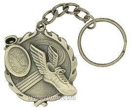 "Medal, ""Track"" - 1-1/4"" Key Chain"