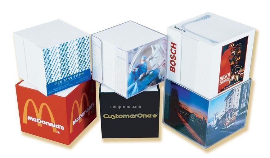 "Plastoform Acrylic Memo Box (4""X4""X1.25"")"
