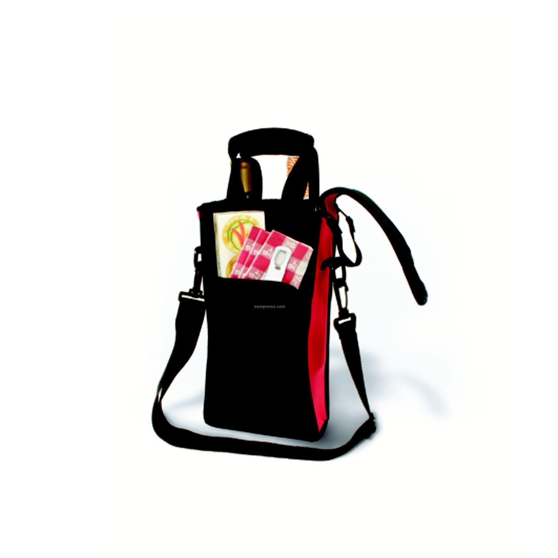Zip-n-go Picnic Neoprene Two-bottle Tote Bag- Boxed